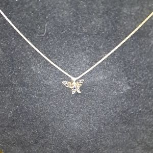 G.P 12k Butterfly necklace